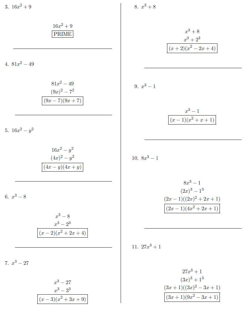Worksheet Difference Of Two Squares Worksheet Worksheet Fun