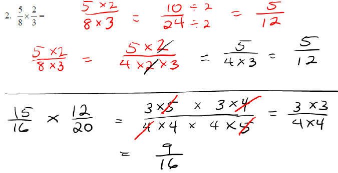 Dividing Fractions Answers Dividing Fractions