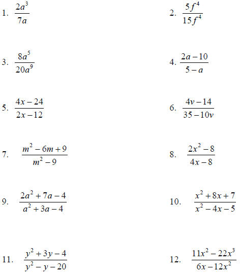 Printables Simplifying Rational Expressions Worksheet adding and subtracting fractions algebra helper simplifying rational expressions